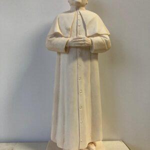 estátua de gesso de Dom Bosco branca