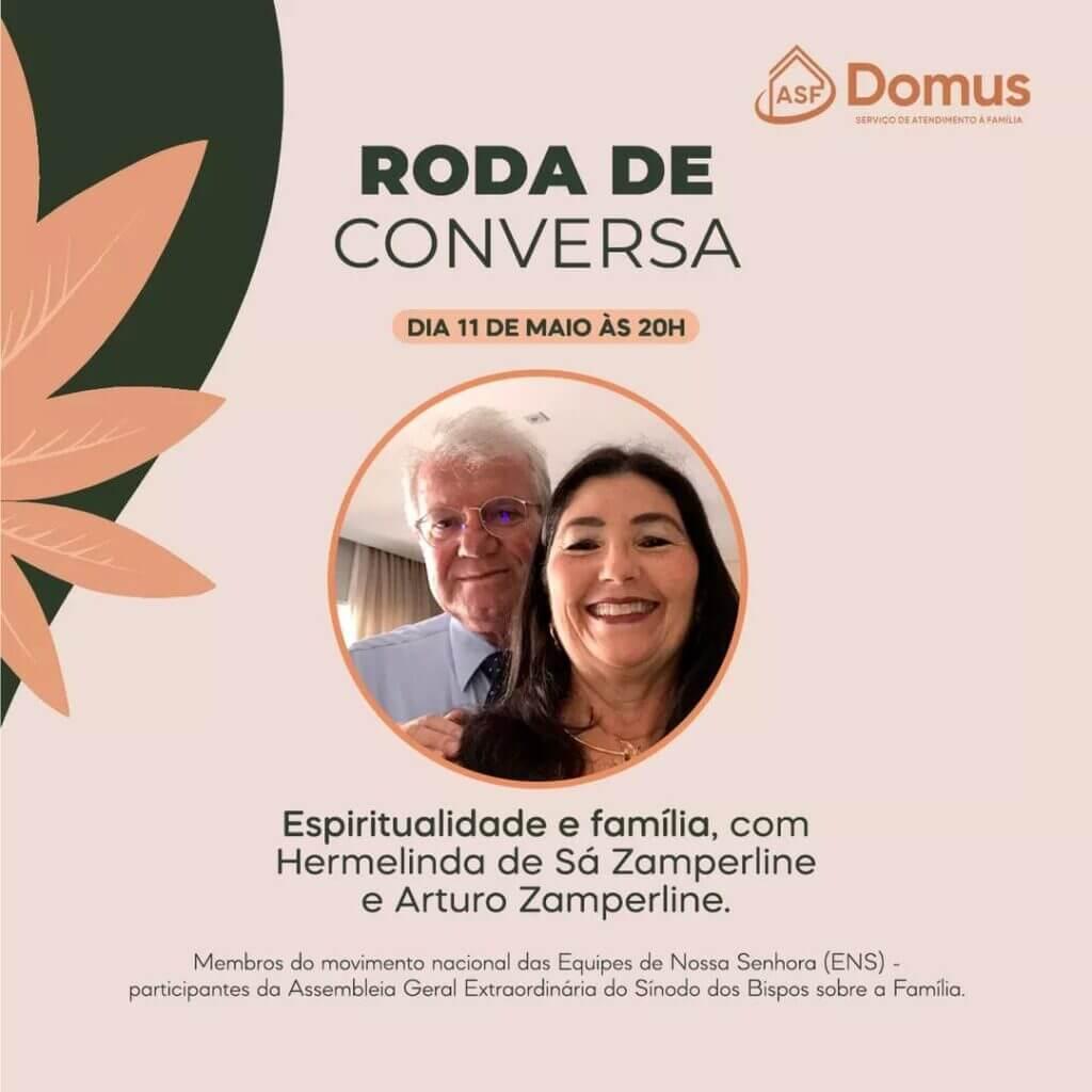 casal Hermelinda e Arturo narrando seu testemunho de vida