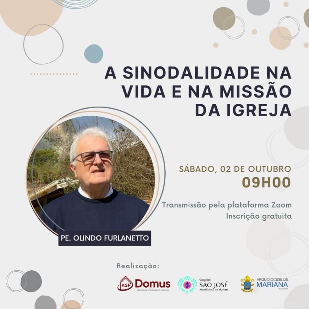 cartaz do convite para a conferência da sinodaliade na vida e missão da igreja